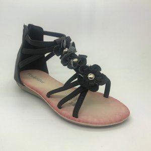 Girls Shoes ProActive Mariah Black Zip Back Sandal